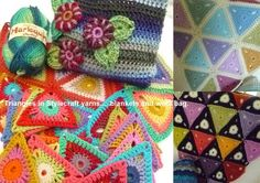 Suz Place: Stylecraft triangles and a bag going to London with me...