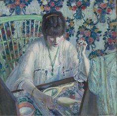 La Poudreuse - Frederick Carl Frieseke, 1913, American