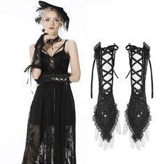 Brand:Darkinlove Material:Cotton;Nylon Size:One Size Sku:AGL015 Lace Gloves, Gothic Accessories, Black Crop Tops, Black Laces, Vintage Fashion, Punk, Cotton, Collection, Dresses