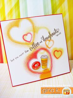 Waltzingmouse Makes. Cofee Lovers Summer hop, plus Candy! We Go Together, Coffee Cards, Craft Items, Clear Stamps, Your Cards, Cardmaking, Greeting Cards, Paper Crafts, Candy