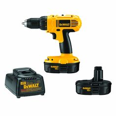 "{affiliate link} This drill is our most used tool and is so handy for many different projects. We like DeWalt drills because the ""chuck"" has a ratcheting mechanism that makes it easier to tighten drill bits. This one comes with two batteries and a charger."