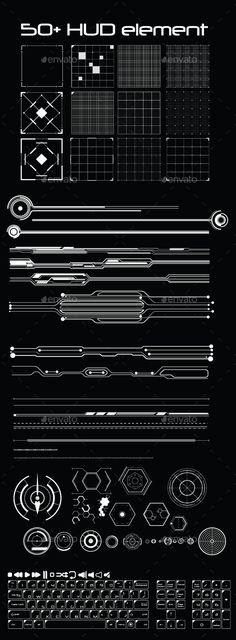 50+ Hud Element Pack Vector AI Illustrator. Download here: https://graphicriver.net/item/50-hud-element-pack/13009855?ref=ksioks