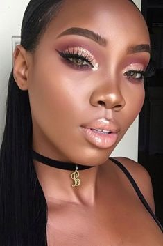 Queen Collection: Make up for Darker Skin Tones ★ Cool Makeup Ideas for Any Occasion picture 1 ★ See Black Girl Makeup, Girls Makeup, Glam Makeup, Makeup Inspo, Makeup Inspiration, Makeup Ideas, Makeup Black Women, Black Makeup Looks, Makeup Jars