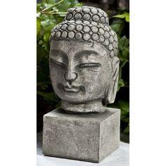 Campania International, Inc Serene Buddha Bust Statue Size: Small, Color: Travertine