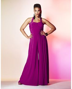 Jumpsuit with very wide legs-simplybe.com-Another site for high end plus size fashion...Summer, here I come!