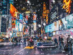 New York Life, Nyc Life, City Life, New Year New York, Empire State Building, New York Weihnachten, Collage Mural, New York City Christmas, New York Night