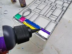 Faux Stained Glass Mosaic Luminary (4/6)