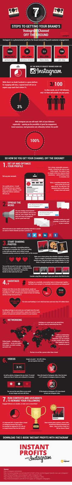 Seven Steps To Getting Your Brand's #Instagram Channel Off The Ground - #infographic #socialmedia