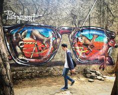 El muro de @librehem @streetartchilango_crew sobre calle Tonala con Puebla