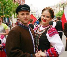 Folk costumes from Podlasie region (Bug river areas), Poland.