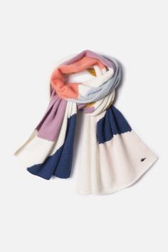 #Lacoste Women's Wool Blend Mohair #Color Blocked #Scarf