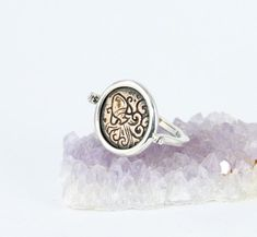 25c8f367cf Aquarius Spinning Ring - Zodiac Sign - Sterling Silver Spinning Ring -  Horoscope Ring