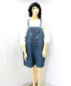 27d34667d4 Mickey overalls   size 2x   plus size   20   22   vintage 80s Mickey  Unlimited Disney Jerry Leigh   Mickey Mouse denim bib overall shorts