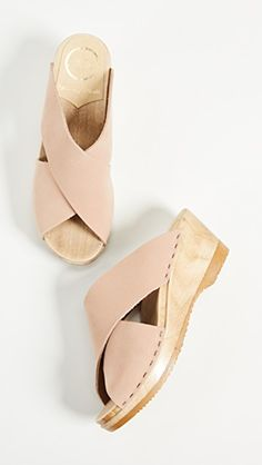 Extra Off Coupon So Cheap No. 6 Store Frida Pink Sand Nude Clogs on Mid Wedge sz 39 8 Worn Once Clog Sandals, Slide Sandals, Leather Sandals, Pink Sand, Wedge Sandals, Open Toe, Heeled Mules, Clogs, Fashion Accessories