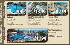 Riviera Maya Vacation Specials with Air from New York