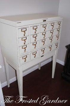 I want a library card catalog. Oh wait - I have one, but maybe it needs to be white