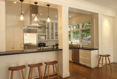 portland post and beam with stainless steel wall mount range hoods kitchen contemporary pillar shaker style