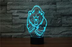 Grizzly Bear 3D LED Night Light Lamp