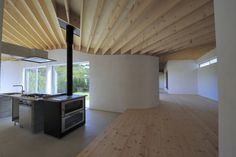 Image 1 of 20 from gallery of MOH / aat + makoto yokomizo architects. Courtesy of aat + makoto yokomizo architects Innovative Architecture, Residential Architecture, Compact House, Japanese House, Clever Design, Beautiful Homes, Pergola, New Homes, Outdoor Structures