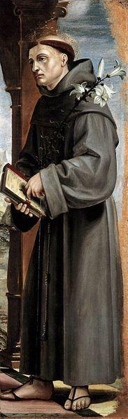 St Anthony of Padua | http://www.saintnook.com/saints/anthony-of-padua/ | File:Zenale, antonio da padova.jpg