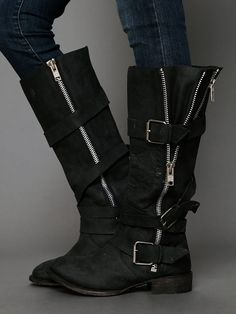 Marlo Zip Buckle Boot