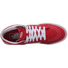 150882b09e Vans SK8-Hi Slim (Racing Red True White) Skate Shoes ( 48