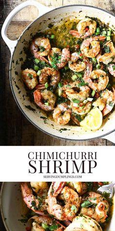 Best Lunch Recipes, Best Seafood Recipes, Chimichurri Shrimp, Honey Lemon, Fish And Seafood, Original Recipe, Coriander, Food Inspiration, Good Food