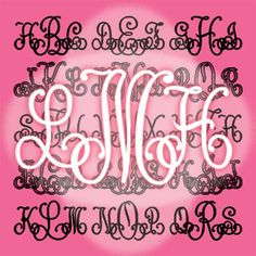 Lace Monograms by Harold's Fonts.