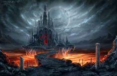 47 Ideas Dark Fantasy Landscape Dreams Concept Art For 2019 Fantasy City, Fantasy Castle, Fantasy Places, Fantasy World, Dark Fantasy, Gothic Castle, Dark Castle, Fantasy Concept Art, Fantasy Artwork