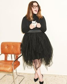 41 ideas dress casual plus size melissa mccarthy for 2019 Tulle Skirt Plus Size, Plus Size Dresses, Plus Size Outfits, Curvy Outfits, Curvy Girl Fashion, Plus Size Fashion, Womens Fashion, Trendy Dresses, Casual Dresses