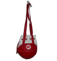Wisconsin Drawstring Shoulder Bag by Red 24 Sports Purses.  Buy it @ ReadyGolf.com