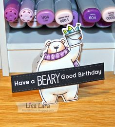 Mini Birthday Card for My Husband I just love this set BB Polar Bear Pals from My Favorite Things. I've been dieing to make a m...