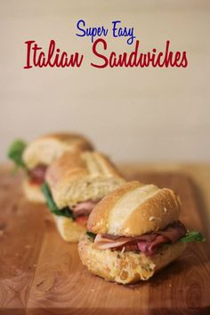 This super easy Italian Sandwich recipe will be on the table in under 5 minutes. With warm, crusty bread | This Mama Loves