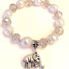 Selling this ❤️💕Handmade Crystal Lucky Elephant Charm Bracelet on Poshmark! My username is: lulafashionshop. #shopmycloset #poshmark #fashion #shopping #style #forsale #Jewelry