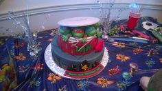 Teenage Mutant Ninja Turtle birthday cake!  Unbelievable!