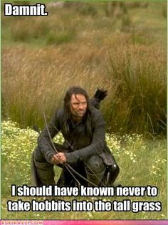 Aragorn is frustrated.