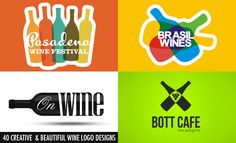 40 Creative and Beautiful Wine Logo Design examples for your inspiration. Follow us www.pinterest.com/webneel