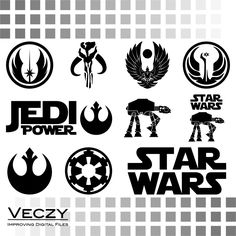 Star Wars svg, SVG Files, svg files for cricut, svg designs, cricut downloads, vector, clipart, DFX, EPS, SV00049 by Veczy on Etsy