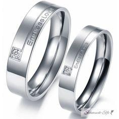 SET Eheringe / Partner Ringe 316 L Edelstahl Endless Love...