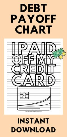 I Paid Off My Credit Card Progress Chart (Printable) Weekly Meal Plan Template, Monthly Budget Template, Sinking Funds, Life On A Budget, Paying Off Student Loans, Paying Off Credit Cards, Money Challenge, Saving For Retirement, Get Out Of Debt