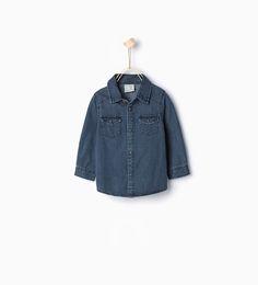 ZARA - KIDS - Denim shirt with pockets 9-12months