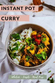Factors You Need To Give Thought To When Selecting A Saucepan Cilantro Chicken Curry Whole 30 Instant Pot - The Elementary Cook Easy Meal Prep, Healthy Meal Prep, Healthy Foods To Eat, Healthy Recipes, Whole30 Recipes, Quick Chicken Curry, Cilantro Chicken, Quick Curry Recipe, Crockpot Recipes