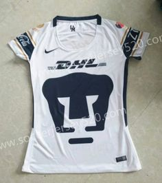 2017-18 Pumas UNAM Home White Female Thailand Soccer Jersey AAA Club 798d496be9038