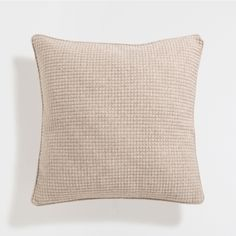 Natural mini-check knit cushion cover - Cushions - Bedroom | Zara Home United Kingdom