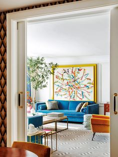 〚 Bold apartment of extravagant architect Jean Porsche in Madrid〛 . 〚 Bold apartment of extravagant architect Jean Porsche in Madrid〛 Bold Living Room, Living Room Styles, Colourful Living Room, Living Room Modern, Living Room Designs, Living Room Decor, Cozy Living, Living Rooms, Apartment Interior