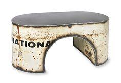 White International Coffee Table: Ben Gatski: Metal Coffee Table | Artful Home