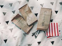 DIY Paper Bag Utensil Holders