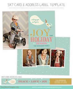 Best Holiday Templates For Photographers Images On Pinterest - Christmas card templates for photographers
