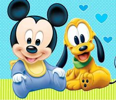 Baby Disney Characters, Classic Cartoon Characters, Pluto Disney, Disney Mickey, Mickey Mouse Clubhouse, Mickey Minnie Mouse, Mickey Mouse Imagenes, Dibujos Baby Shower, Mickey Craft