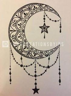 Original Luna handmade mandala black canvas on white 18 X . - Original Luna handmade mandala black canvas on white 18 X - Moon Tattoo Designs, Design Tattoo, Henna Tattoo Designs, Tattoo Ideas, Body Art Tattoos, Tattoo Drawings, New Tattoos, Tattoo Sketches, Cat Tattoo